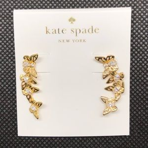 Kate Spade KS Butterflies Gold Climber Earrings